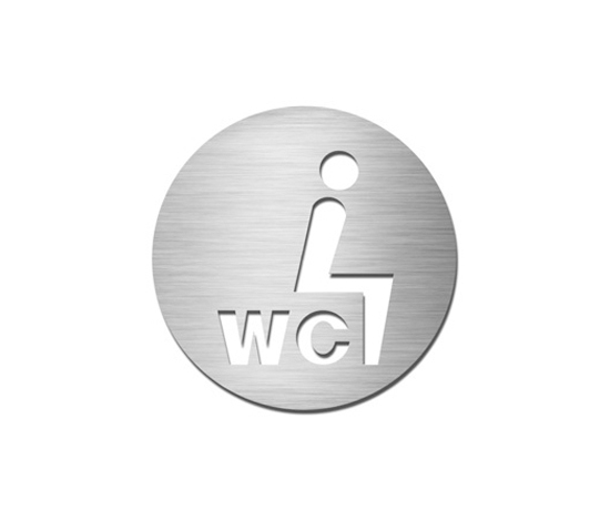 Pictograms round | stainless steel | Sit-down WC by Serafini | Toilet signs