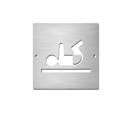 Baby changing room by Serafini | Room signs