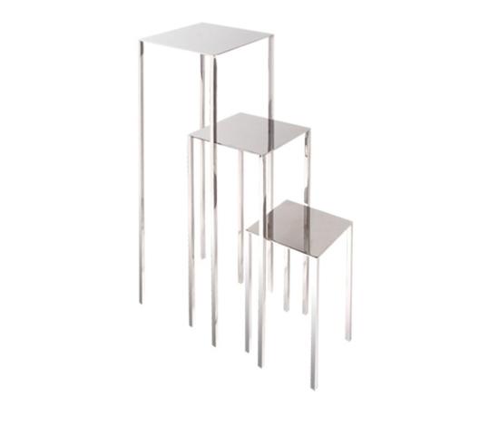 Table | Skinny | square di Serafini | Tavolini di servizio