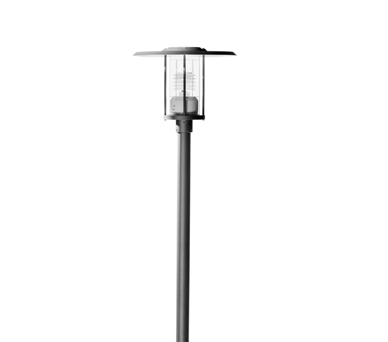 Madrid 600 Pole mounted luminaire single by Hess | Path lights