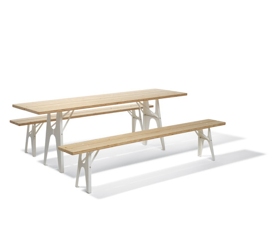 Ludwig table and bench by Lampert | Restaurant tables and benches