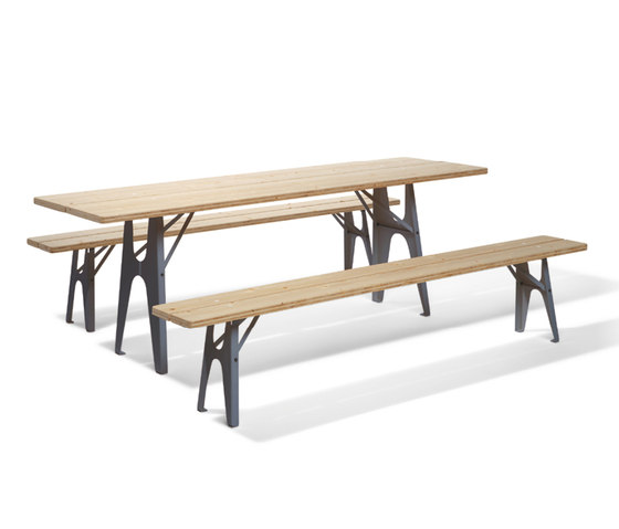 Ludwig table and bench by Richard Lampert | Dining tables