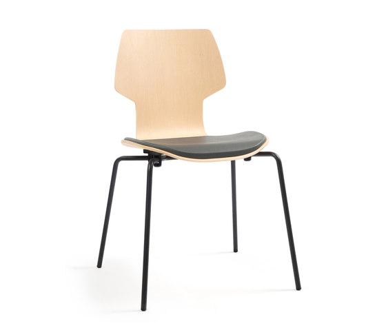 Gràcia | chair oak black di Mobles 114 | Sedie