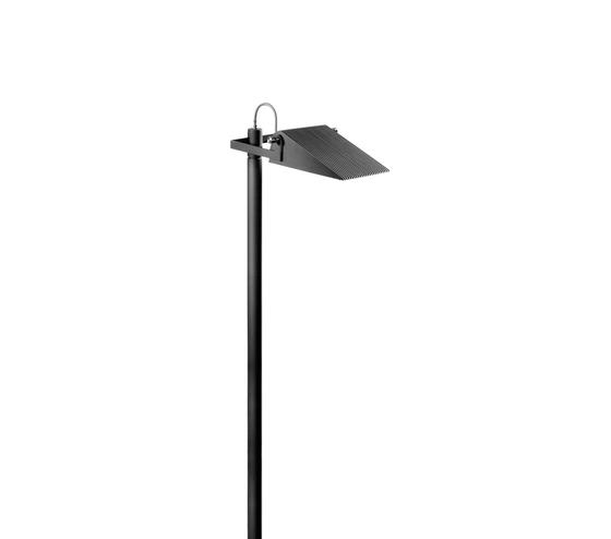 Novara S Luminaire with bracket single by Hess | Path lights