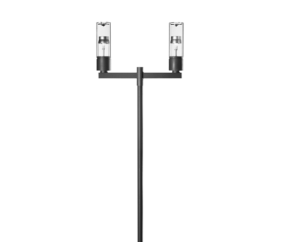 Residenza D Pole mounted luminaire with bracket by Hess | Path lights