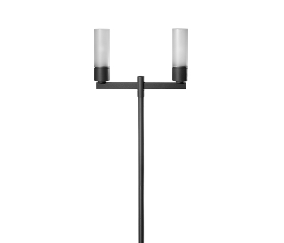 Residenza S Pole mounted luminaire with bracket by Hess | Path lights