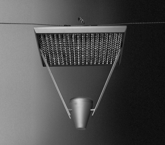 Faro UE 720 Catenary suspended luminaire by Hess | Street lights