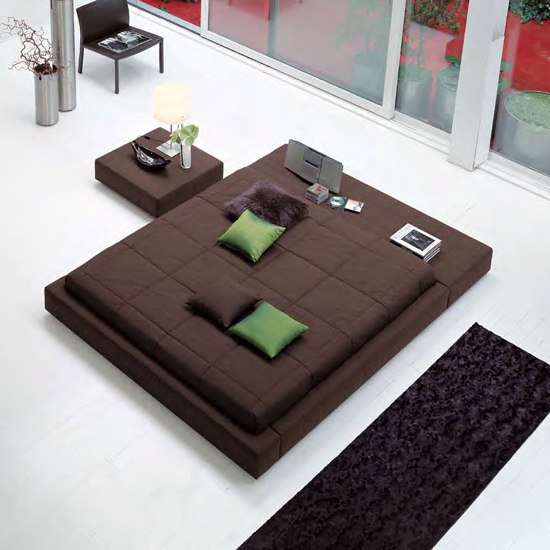 Squaring Isola by Bonaldo | Double beds