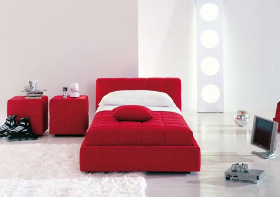 Squaring Basso by Bonaldo | Single beds