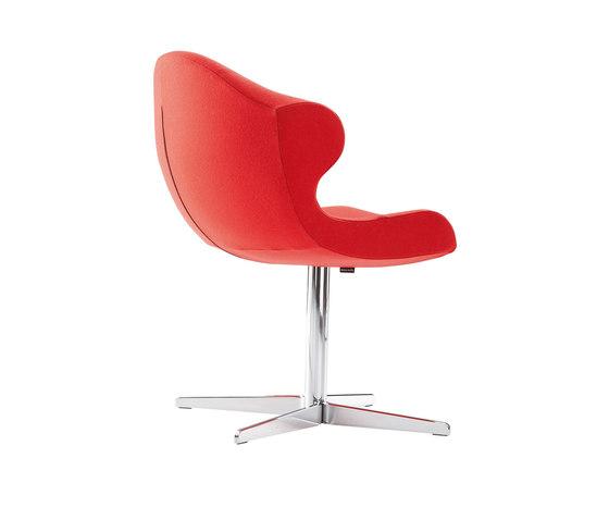 Alster | Alster Carver Chair Central Pedestal - Brilliant Chrome by Ligne Roset | Chairs