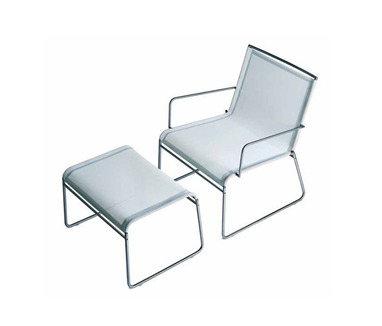 Clip low armchair/footstool by Bivaq | Garden armchairs