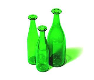 3 Green Bottles by Cappellini | Vases