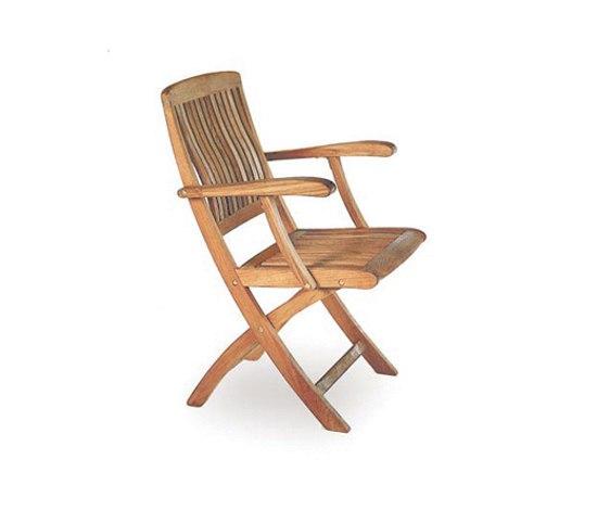 Del Rey DEL 55 Folding Armchair by Royal Botania | Garden chairs
