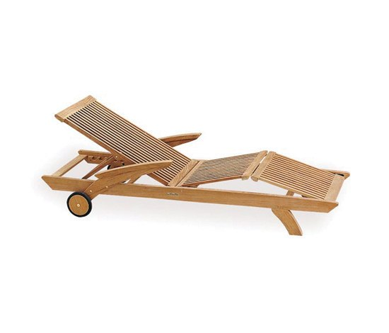 Solid Heritage HER 195 lounger by Royal Botania | Sun loungers