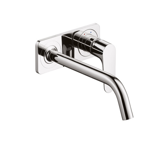 AXOR Citterio M Single Lever Basin Mixer for concealed installation with plate and spout 227mm DN15 wall mounting by AXOR | Wash basin taps