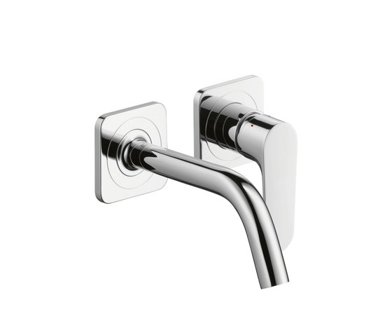 AXOR Citterio M Single Lever Basin Mixer for concealed installation with escutcheons and spout 167mm DN15, wall mounting by AXOR | Wash-basin taps