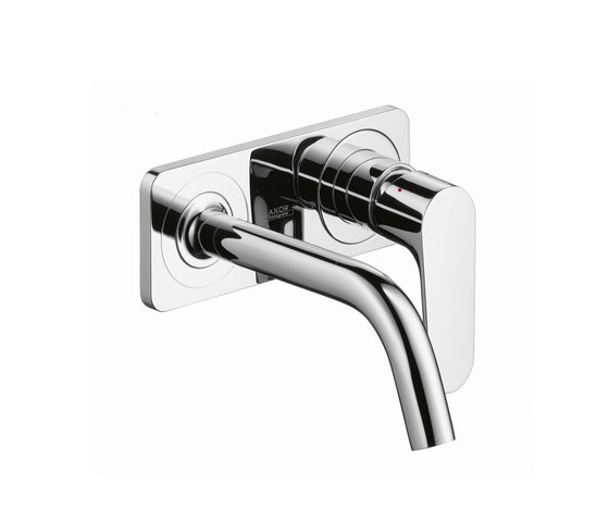 AXOR Citterio M Single Lever Basin Mixer for concealed installation with plate and spout 167mm DN15, wall mounting by AXOR | Wash-basin taps
