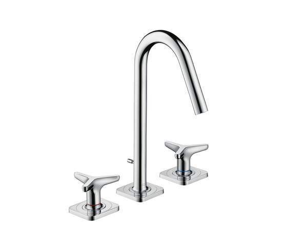 AXOR Citterio M 3-Hole Basin Mixer with star handles and escutcheons, DN15 by AXOR | Wash-basin taps