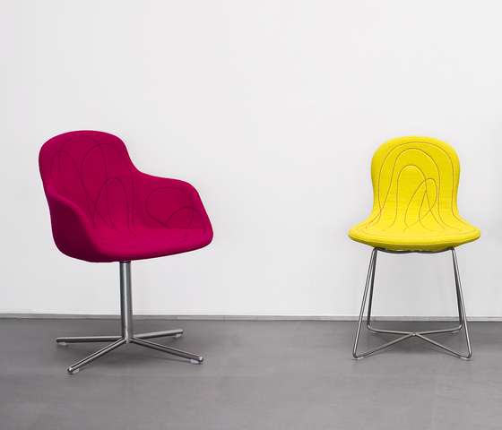Doodle by Tacchini Italia | Visitors chairs / Side chairs