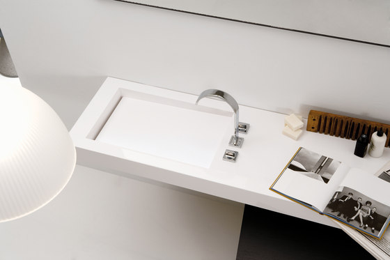 A. Corian® Washbasin Countertop by Inbani | Wash basins