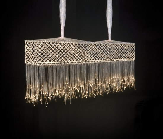 Bobbin lace bar suspended lamp general lighting from for Lampen quasar