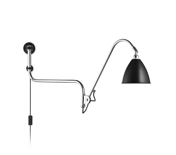 Bestlite BL10 Wall lamp | Black/Chrome by GUBI | Task lights