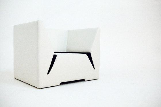 Divide Armchair | Ottoman by Nolen Niu | Armchairs