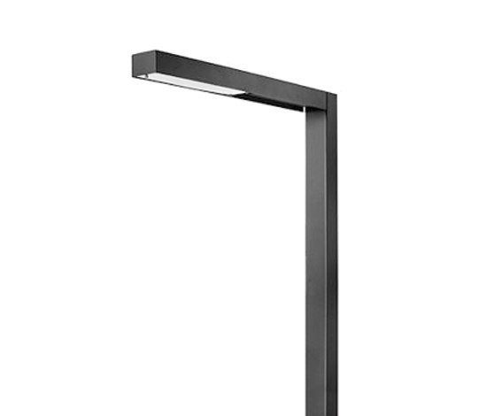 Linea 4500 Pole mounted luminaire with bracket by Hess | Path lights
