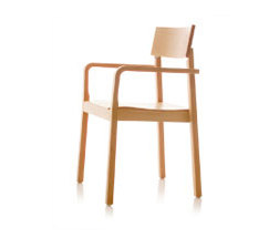 S11 chair with arms di B+W | Sedie multiuso