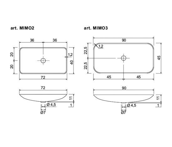 Mimo 2/3 by antoniolupi | Vanity units