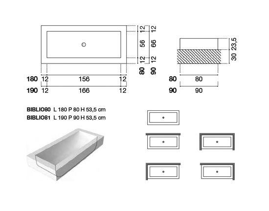 Biblio 80/81 by antoniolupi | Built-in bathtubs