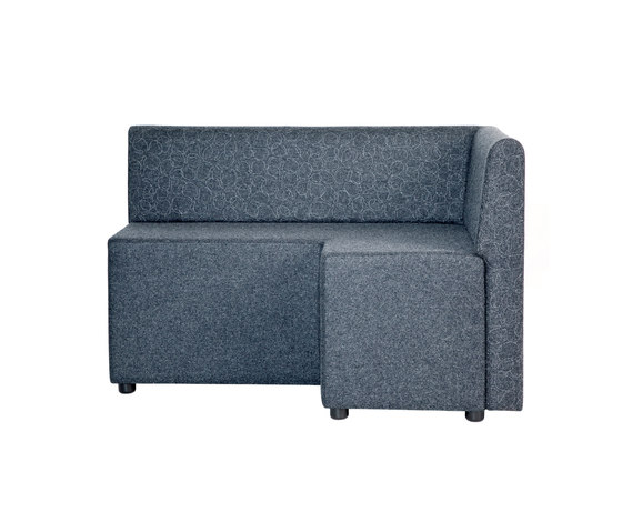 B-Bitz Benny with back by Johanson | Modular seating elements