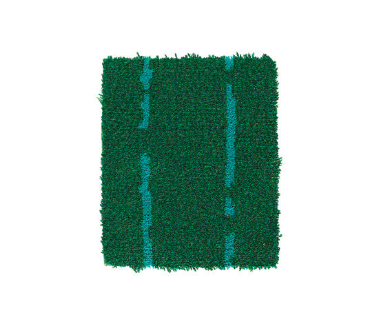 Pinstripe Green-Turquoise 32 by Kasthall | Rugs / Designer rugs