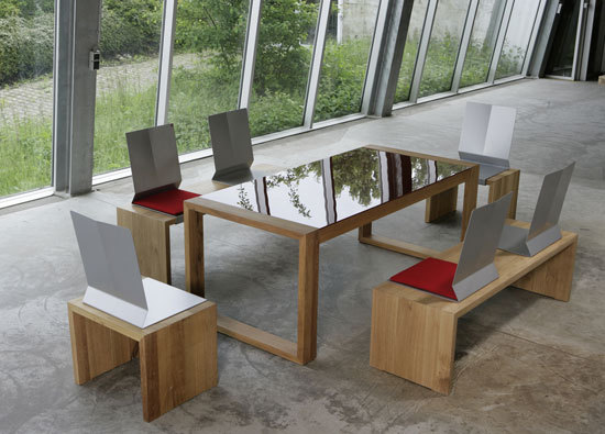 H 35 No One table by Hansen | Dining tables