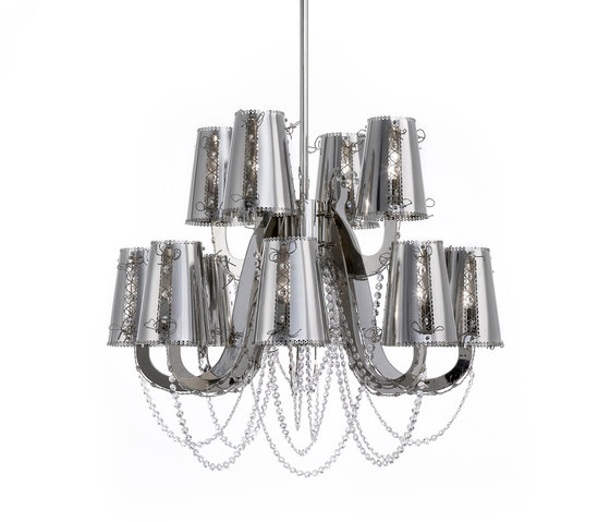 Lola chandelier by Brand van Egmond | Ceiling suspended chandeliers