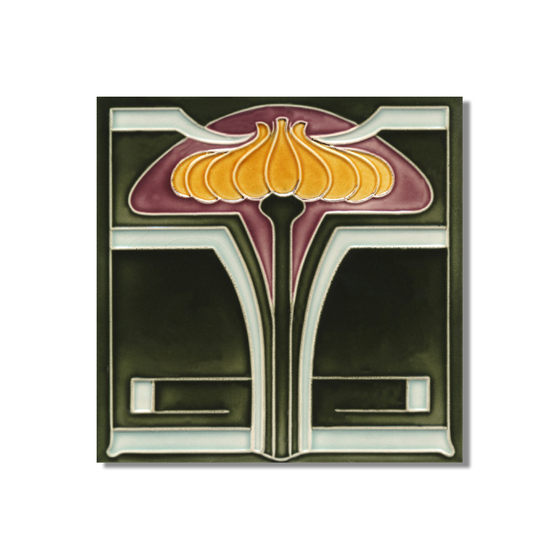 art nouveau wall tile f26 v5 de golem gmbh produit. Black Bedroom Furniture Sets. Home Design Ideas