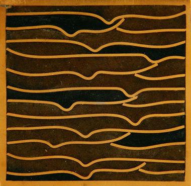 Pleats gold amber black 5x5 de Ann Sacks | Carrelage mural
