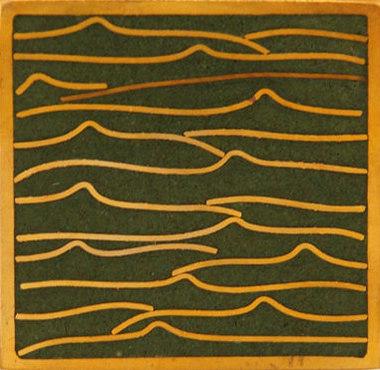 Pleats gold green 5x5 de Ann Sacks | Carrelage mural