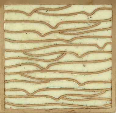 Pleats nickel ivory 5x5 de Ann Sacks | Carrelage mural
