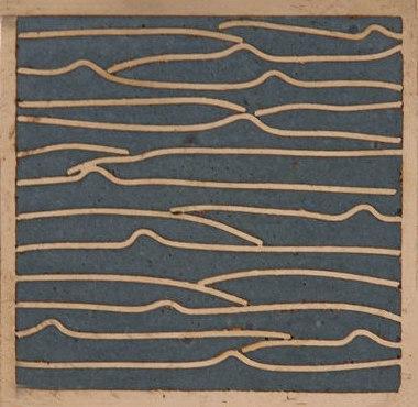 Pleats nickel slate blue 5x5 de Ann Sacks | Carrelage mural