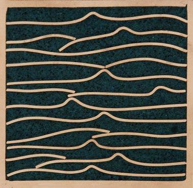 Pleats nickel teal 5x5 de Ann Sacks | Carrelage mural