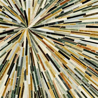 Starburst mosaic by Ann Sacks | Natural stone mosaics