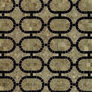 Oval Link mosaic de Ann Sacks | Mosaïques en pierre naturelle