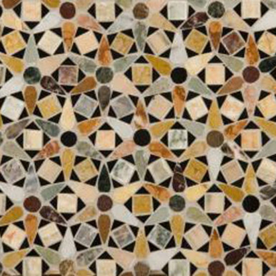 Venetian Daisy mosaic de Ann Sacks | Mosaïques en pierre naturelle