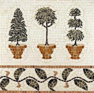 Topiary mosaic di Ann Sacks | Mosaici