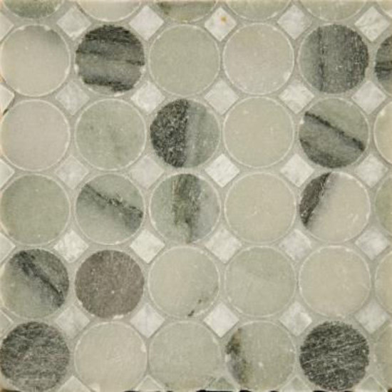 Circle Square 1 mosaic by Ann Sacks | Natural stone mosaics