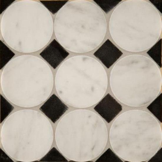 Circle Square 3 mosaic by Ann Sacks | Natural stone mosaics