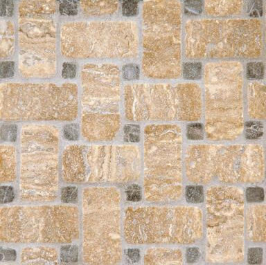 Basketweave 1 mosaic by Ann Sacks | Natural stone mosaics