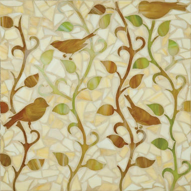Vine glass mosaic von Ann Sacks | Glas Mosaike