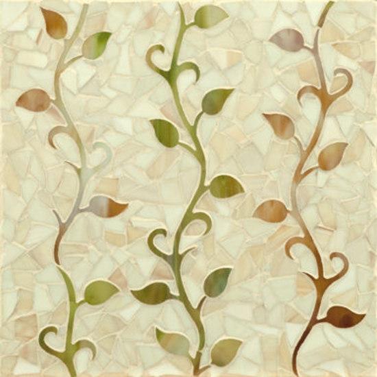 Vine glass mosaic de Ann Sacks | Mosaïques verre